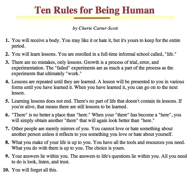 Ten-Rules-for-Being-Human