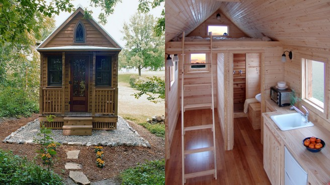 A typical tiny house, as created by Jay Shafer.