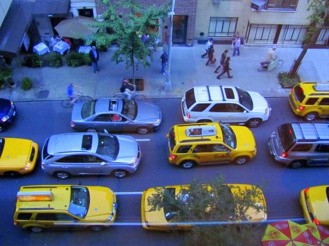 Stuck in traffic or motoring along? New York City, 2011.