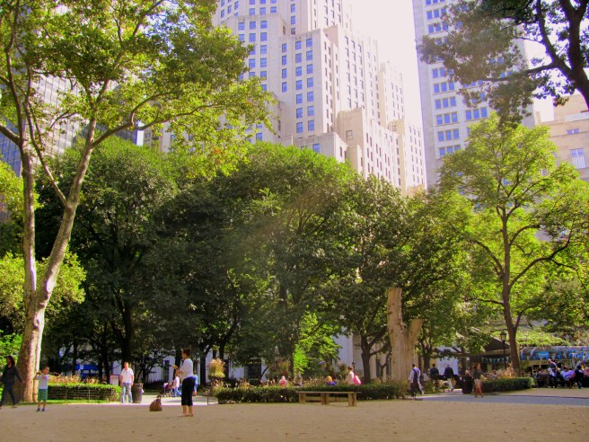 A proximity to green space seriously increases the health and walkscore of a city. NYC, 2011.